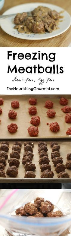 How to Freeze Meatballs: Follow this simple method to make your own freezer meatballs! You can take out as many as you like at a time. You can use your favorite recipe, or you can use this grain-free, egg-free Italian Meatball recipe. Yum!