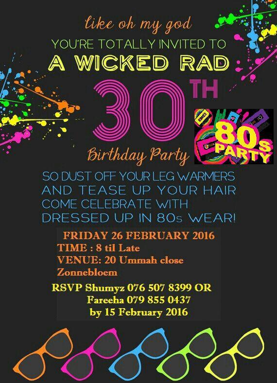 30tg Party Invitation Ideas