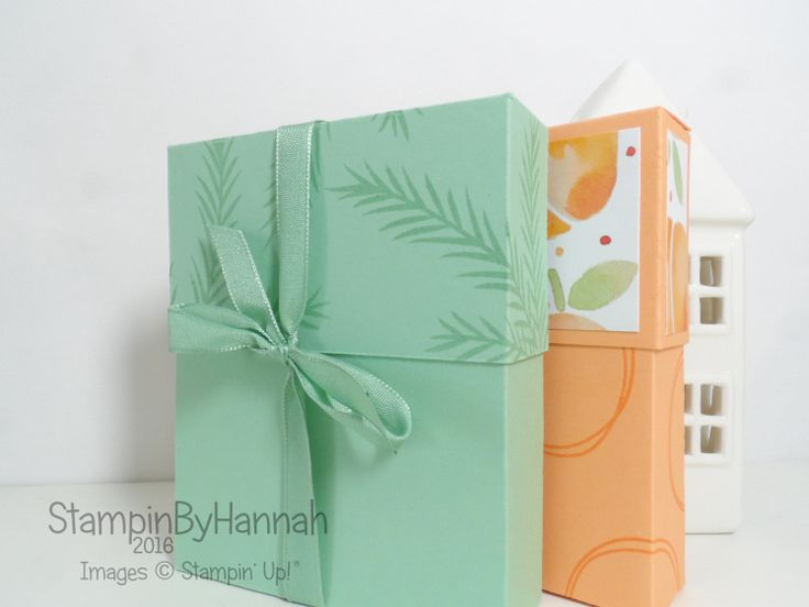 Make It Monday   Note Card box using Fresh Fruit from Stampin' Up! U.K.