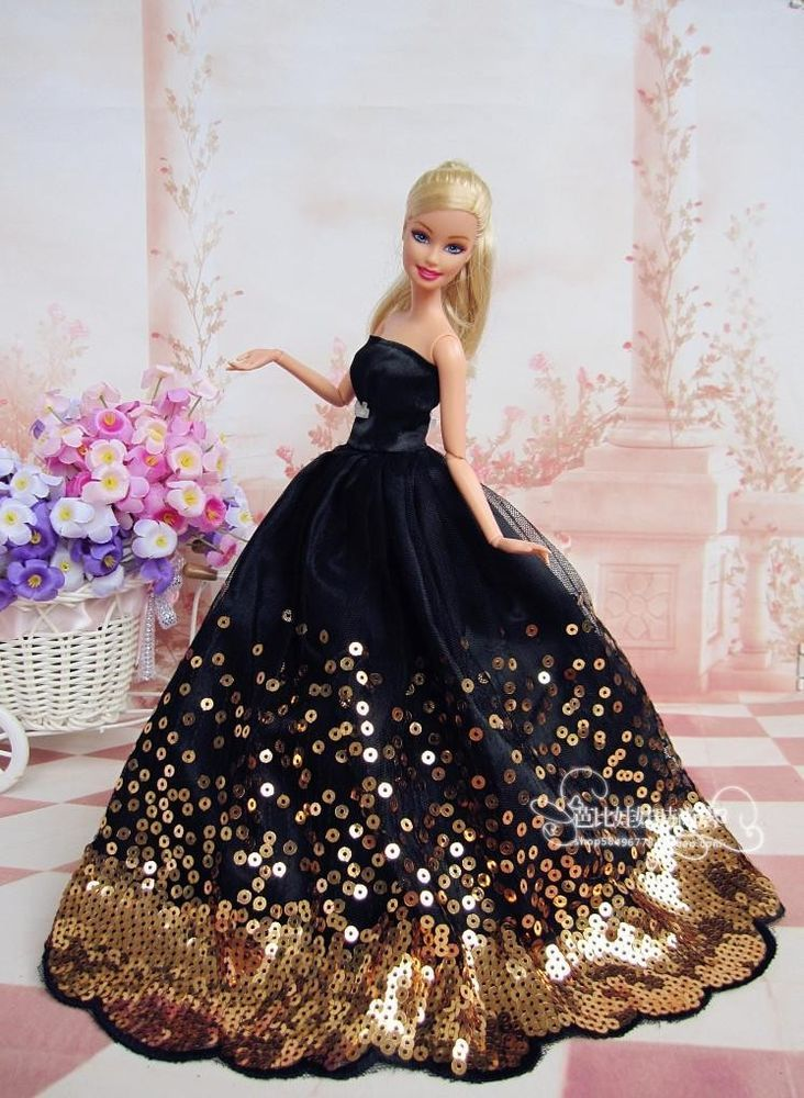 Fashion Royalty Sequin Evening Dress/gown clothes for Silkstone Barbie Doll c004 #HandmadeFitForBarbieDoll