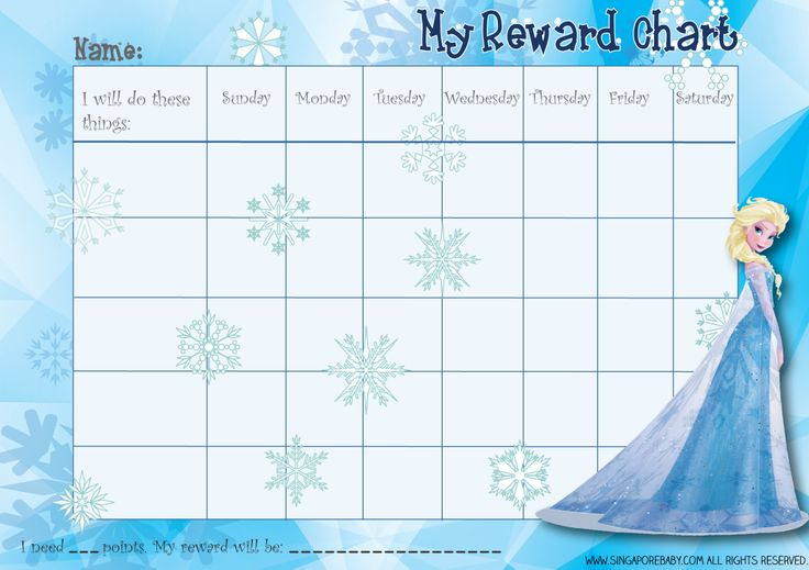 Frozen Reward Chart Printable Kitchen And Living Space Interior