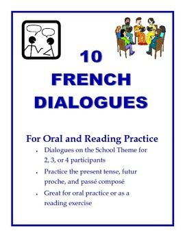 10 french dialogues for reading and speaking practice student reading and school themes. Black Bedroom Furniture Sets. Home Design Ideas