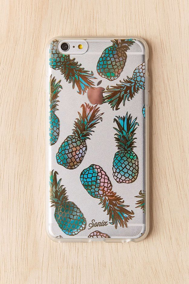 This metallic phone case.   28 Products For People Who Think Pineapples Are Cute