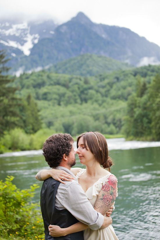 Stephanie & Brandt's Washington Cabin Wedding A Practical Wedding: Blog Ideas for the Modern Wedding, Plus Marriage