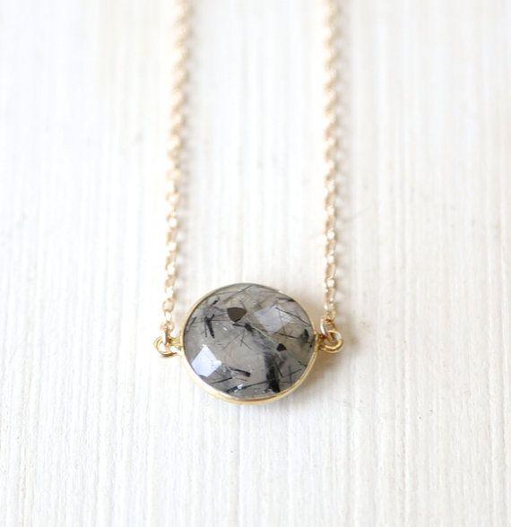 Stormy Rutilated quartz Necklace