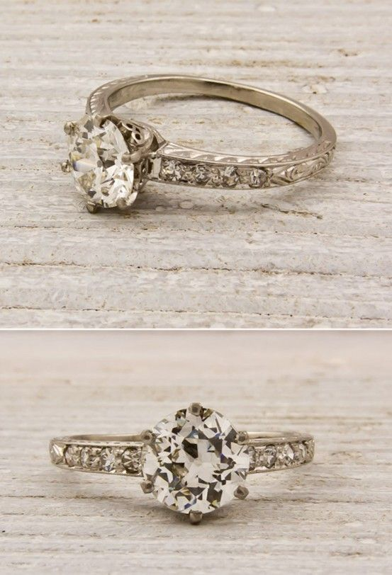 Vintage engagement rings from Erstwhile Jewelers.........I still want this