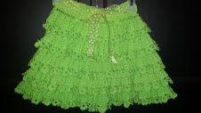 falda vrtde con boleros para niña