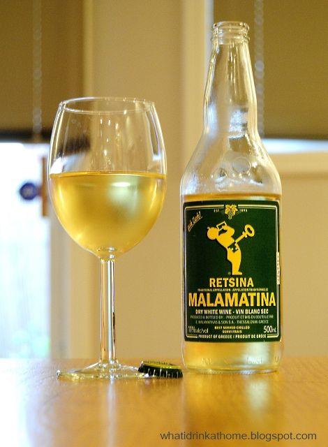 retsina malamatina white wine