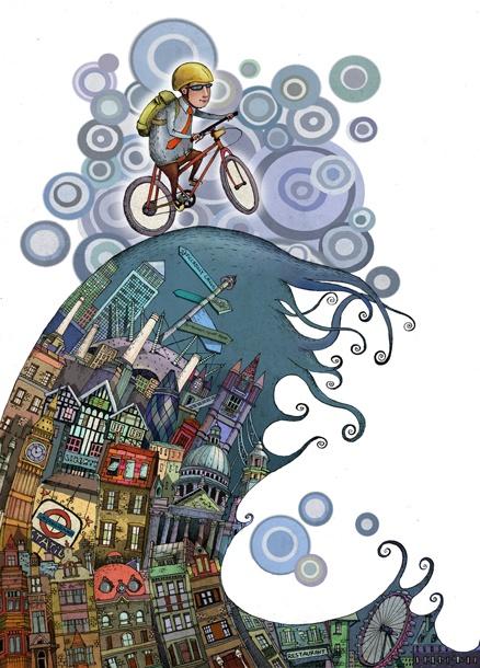 Cycling in London by Aleksei Bitskoff