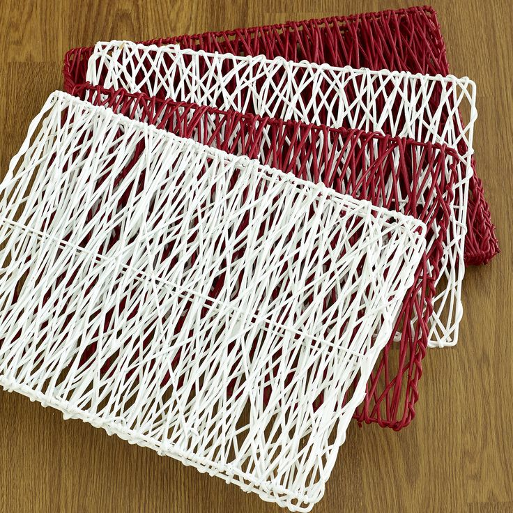 Perfect picnic! Marbella rattan placemats red and white $9.95 each - shop the look here http://www.oasishomewares.com/host-a-party/book-an-Oasis-party.html