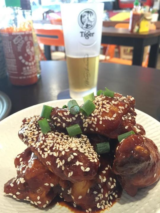 MAROOCHYDORE - Junk. Asian Restaurant. Shop 3/12-20 Ocean St.  J.F.C korean fried chicken wings with a sweet and spicy sauce. https://www.facebook.com/os3junk