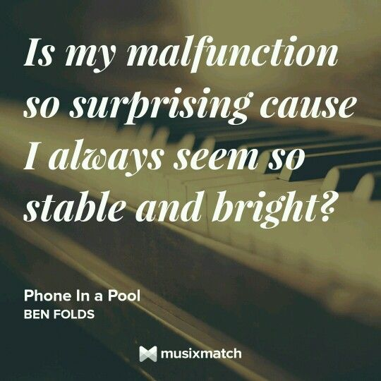 Phone in a Pool - Ben Folds