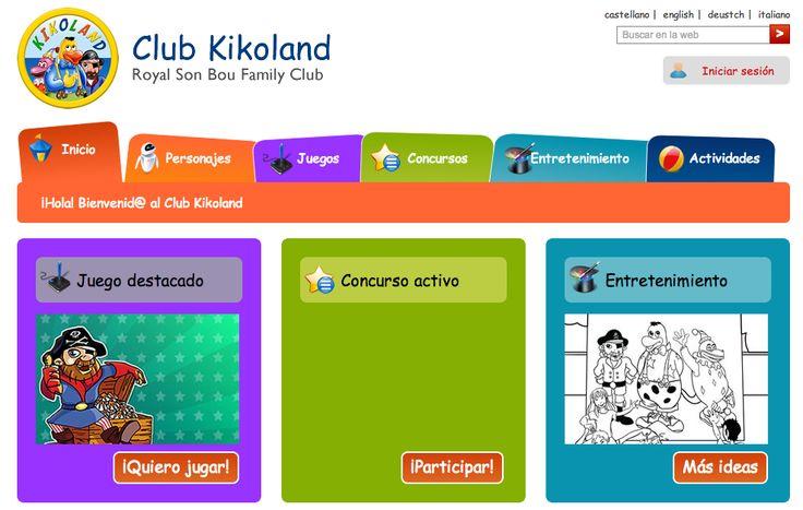 Club Kikoland, nueva web para niños de los apartamentos Royal Son Bou Family Club en Menorca