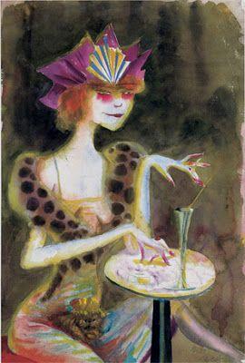 Otto Dix, Mieze, Abend im Café, 1923