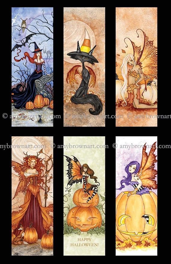 Halloween bookmark set by Amy Brown