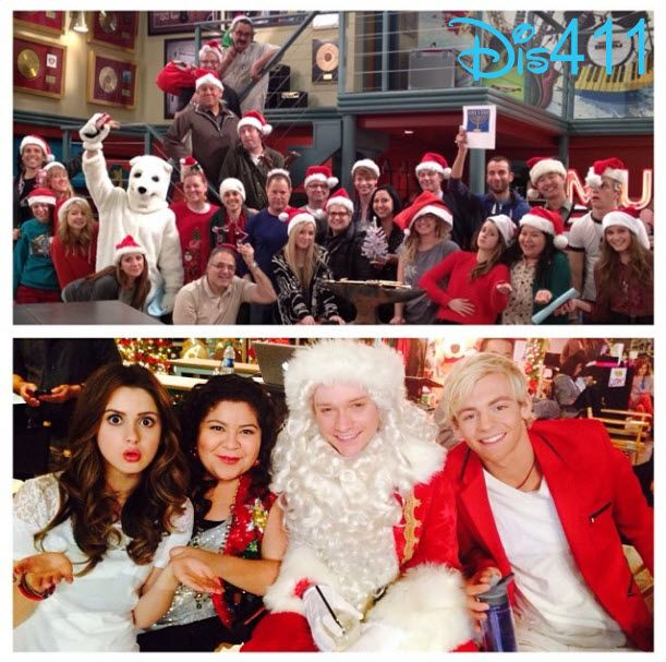 """Photo: Raini Rodriguez With Her """"Austin & Ally"""" Co-Stars And Crew Wishing Everyone A Happy Holidays"""