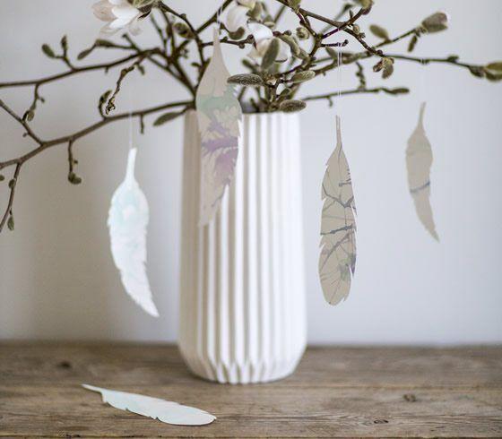 DIY - Feather ornaments