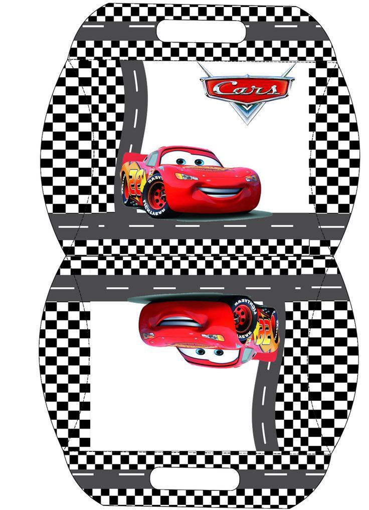 Cars: Caja Almohada para Imprimir Gratis.                                                                                                                                                                                 Más