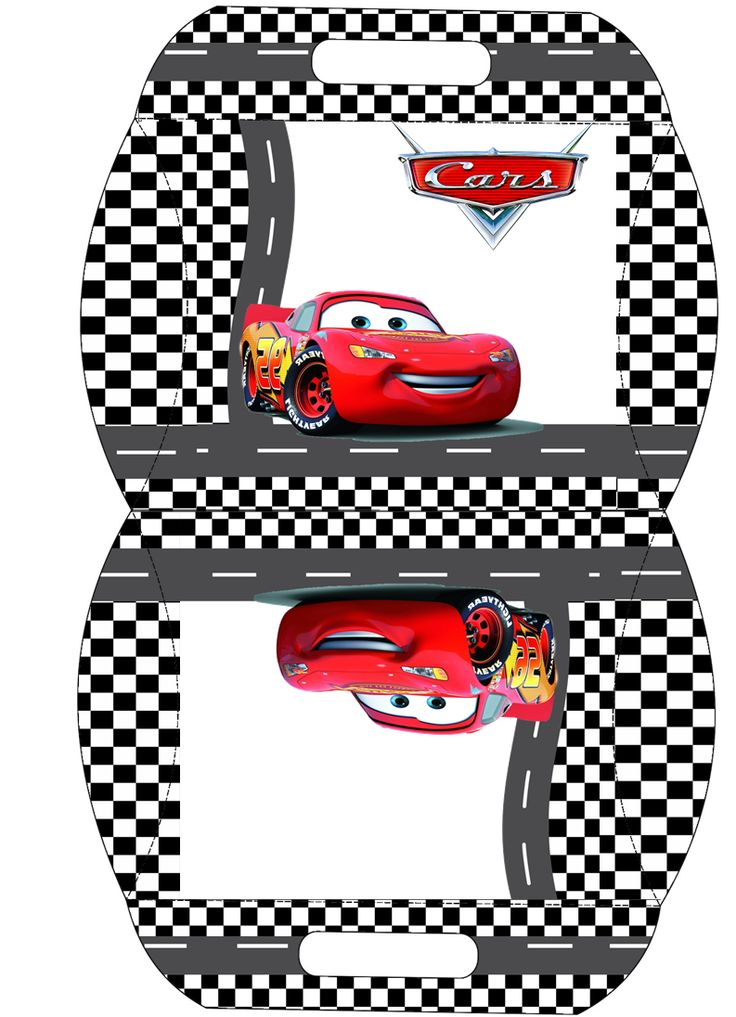 Click here to download a FREE printable Lightning McQueen pillow box template!