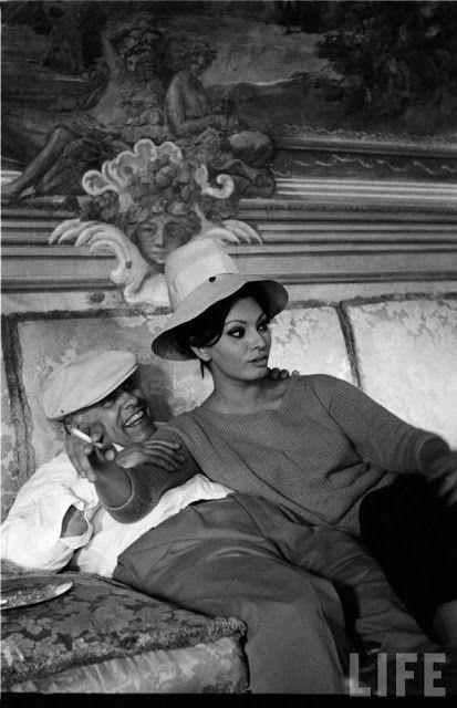 Film Noir Photos: At Home with Sophia Loren & Carlo Ponti