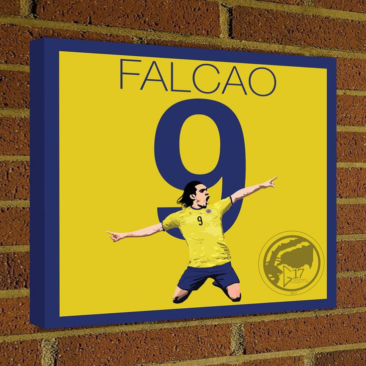 Radamel Falcao Square Canvas Wrap Soccer Art Print Colombia Soccer Poster wall decor home decor Falcao print, Football poster by Graphics17 on Etsy