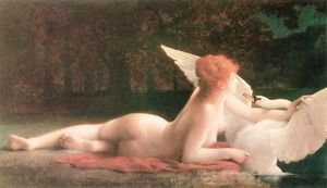 Leda and the Swan  Paul Prosper Tillier