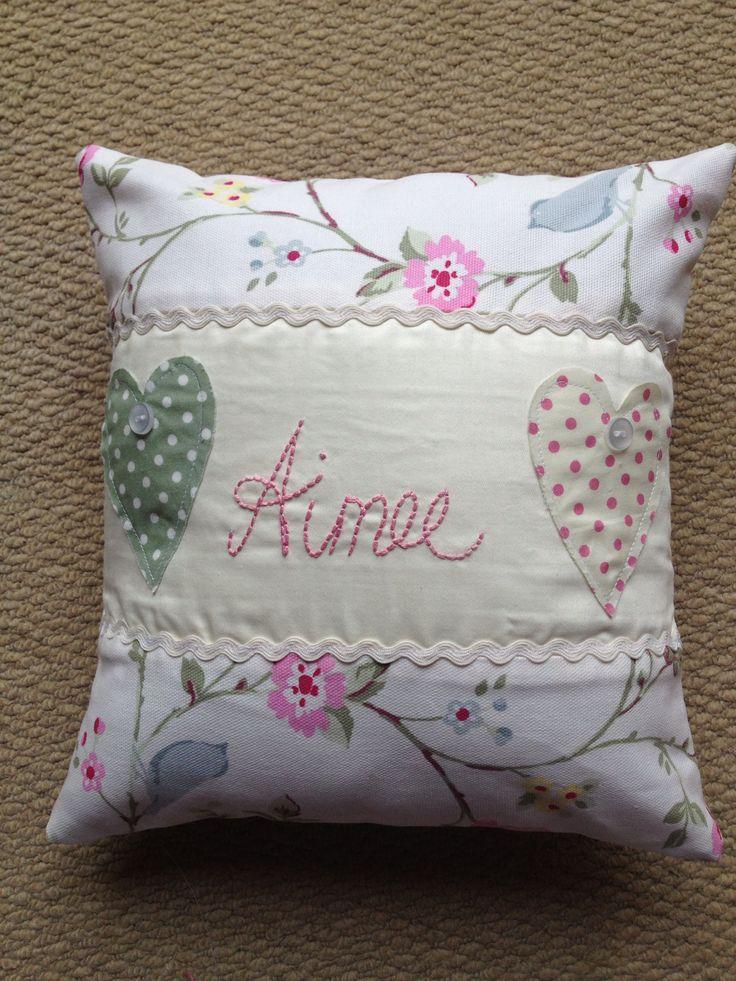 Personalised handmade cushion x & 66 best Cushion Ideas images on Pinterest | Cushion ideas ... pillowsntoast.com