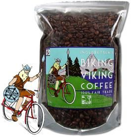 Ingebretsen's Biking Viking Coffee!! 100% Fair Trade. omfg this is perfect for Devyn