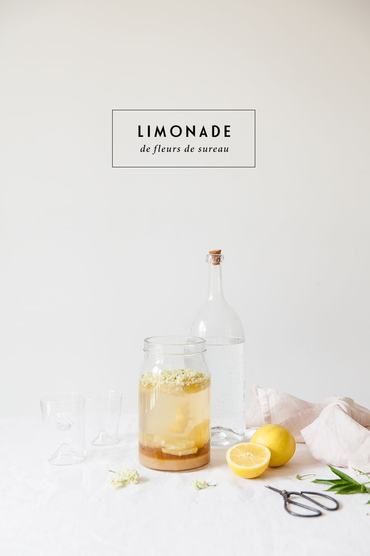 Limonade de Fleurs de Sureau / My Little Fabric / Elderflower Lemonade