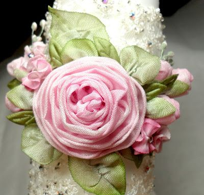 Beautiful fabric flowers