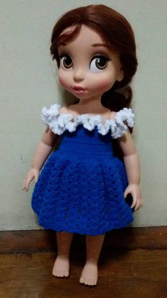 Handmade Crochet Outfit for Disney Princess by Handmade2557