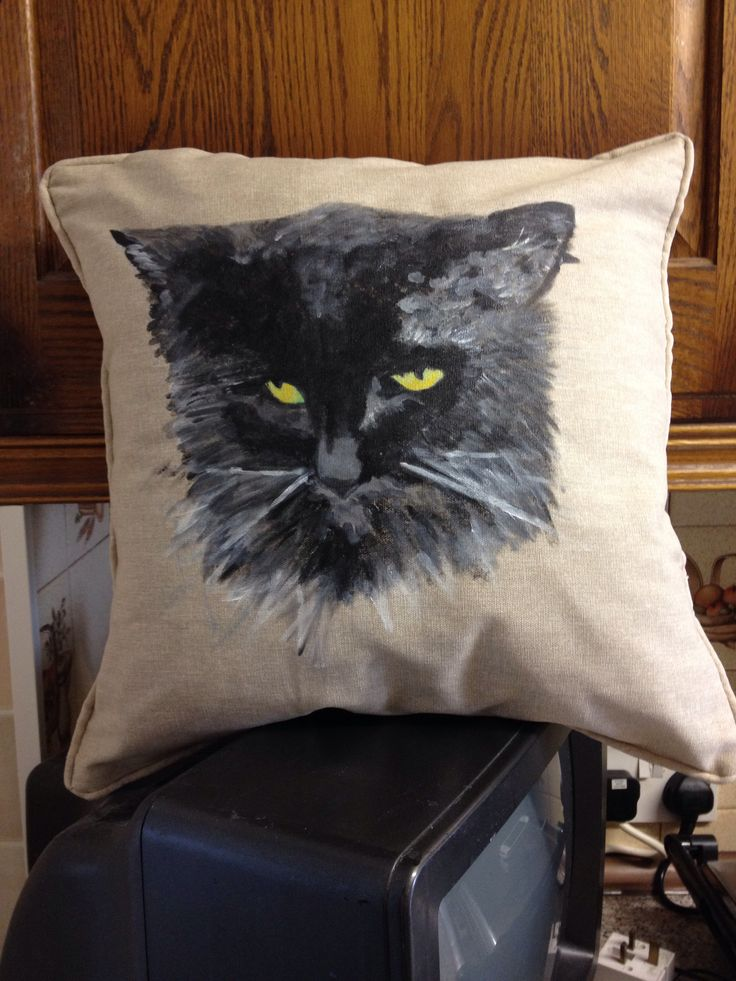 Another pet cushion hand painted for a customer