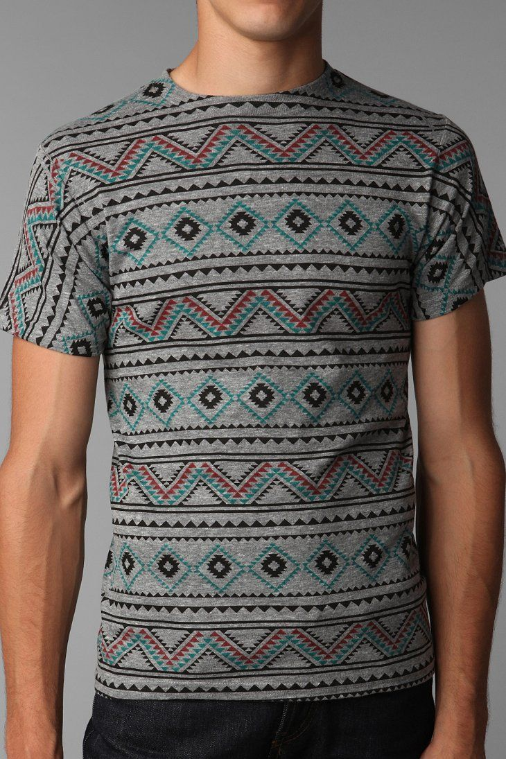 94b357c8b Deter Printed Tee - Urban Outfitters | Attire in 2019 | Mens tops, Mens  fashion, Urban Outfitters