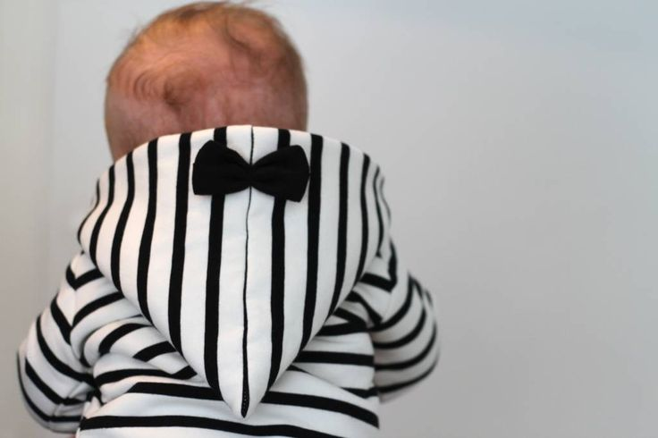 Bow Tie Hooded Jacket - Breton #breton #hooded #jacket #kids #fashion #baby #bow #tie #stripes #children #mode