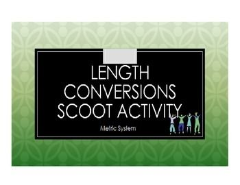 Length Conversions Scoot Activity/Task Cards (Metric System)  Scoot, scoot, scoot! Don't your kids just love to scoot!! This Length Conversions Scoot Activity gives 4th and 5th graders a fantastic opportunity to move around while learning. This will really help your students who NEED to move. In this scoot activity, students will convert units of measurement in the Metric System (for example, from millimeters to centimeters or meters to kilometers, etc ...