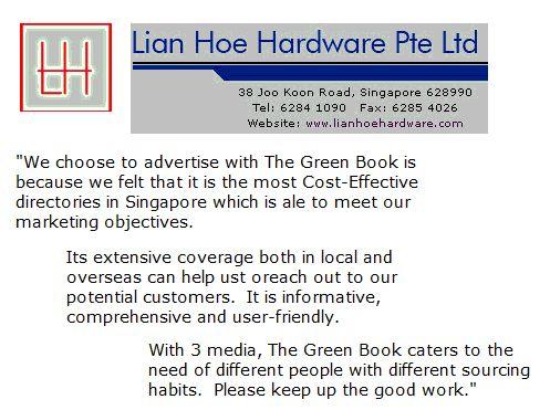 Testimonial from Lian Hoe Hardware Pte Ltd