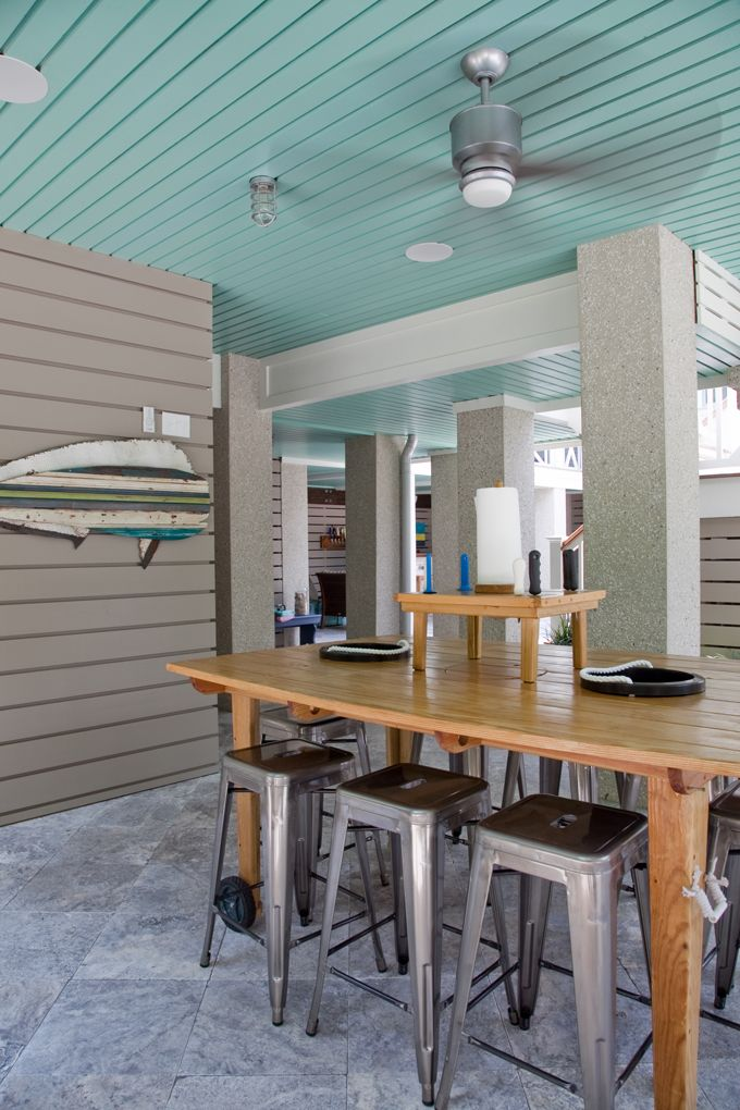 House of Turquoise: RS Custom Homes  - LOVE this outdoor bar!