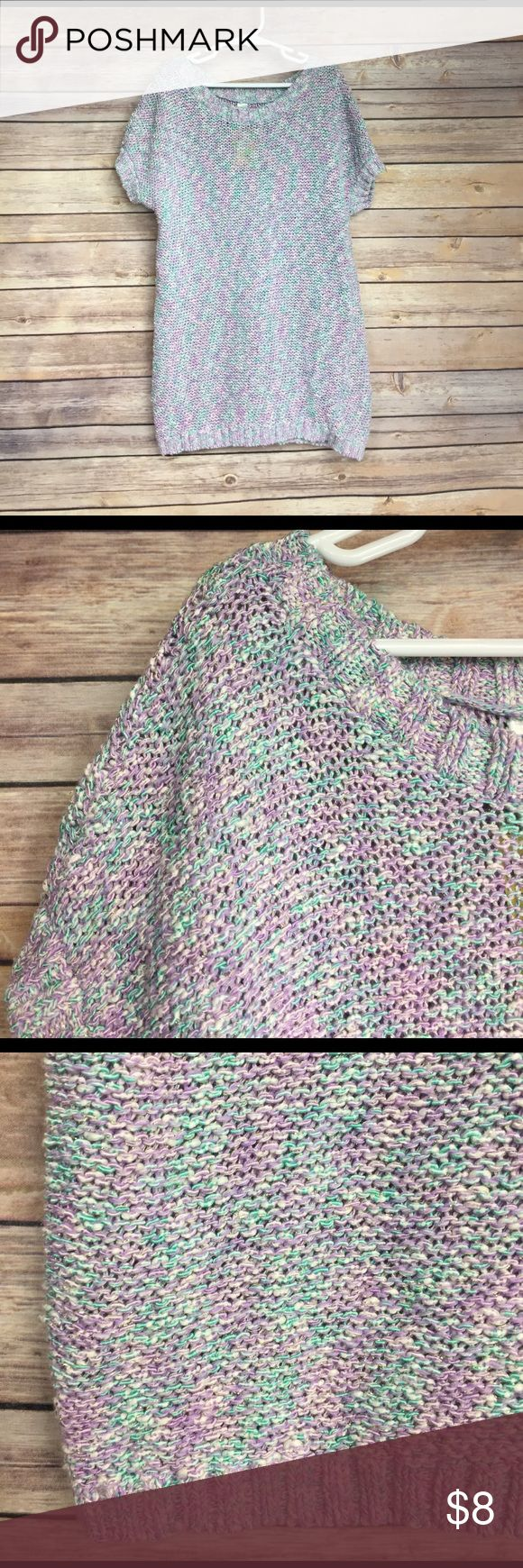 💜Size XL tunic sweater Cherokee brand Pretty pastels for spring!  Has sparkle threading throughout for a bit of pizzazz!  Size 14-16.  GUC.  🛍Bundle and save!  25% off automatically when you purchase 2+ items 🛍 Cherokee Shirts & Tops Sweaters