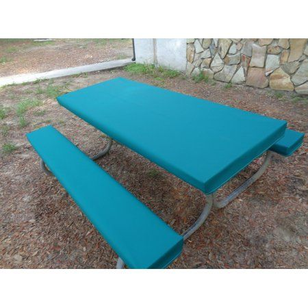 Fitted Heavy Duty Marine Upholstery Vinyl Picnic Table Cover Sets. Table Gloves