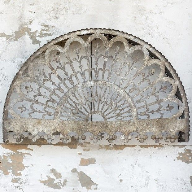 Metal Filigree Arch Wall Decor   Antique Farmhouse