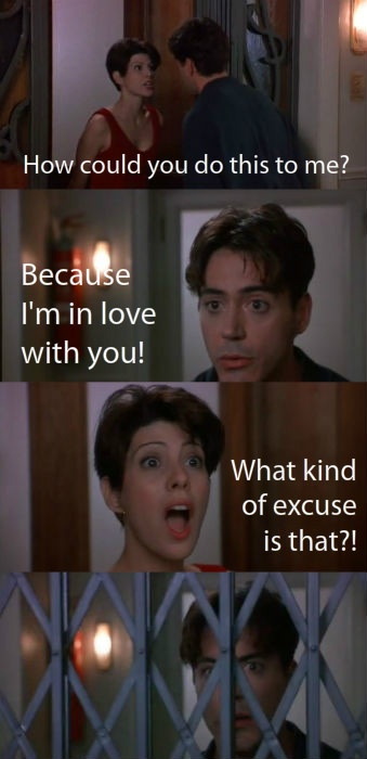 Only You (1994)- one of my favorite movies! i love both Maris Tomei and Robert Downey, Jr.<3