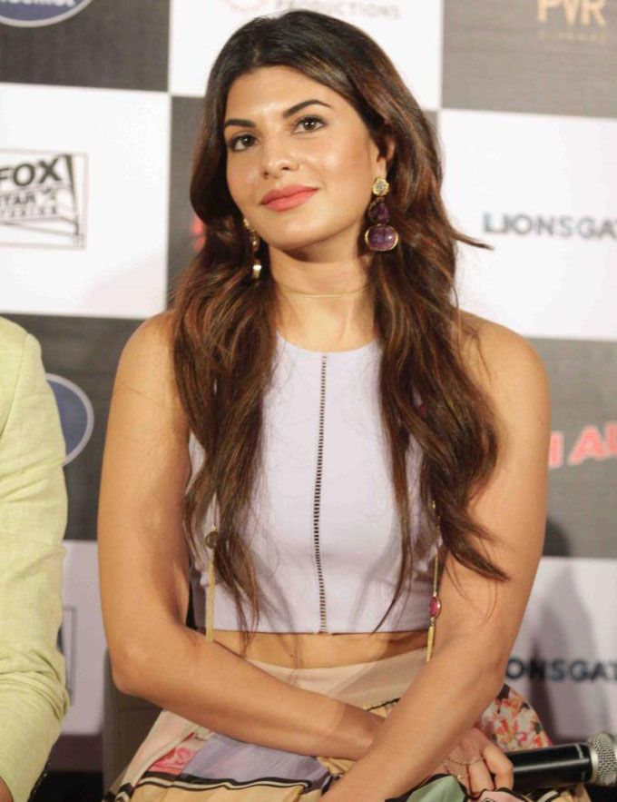 Jacqueline Fernandez at the trailer launch of 'Brothers'.