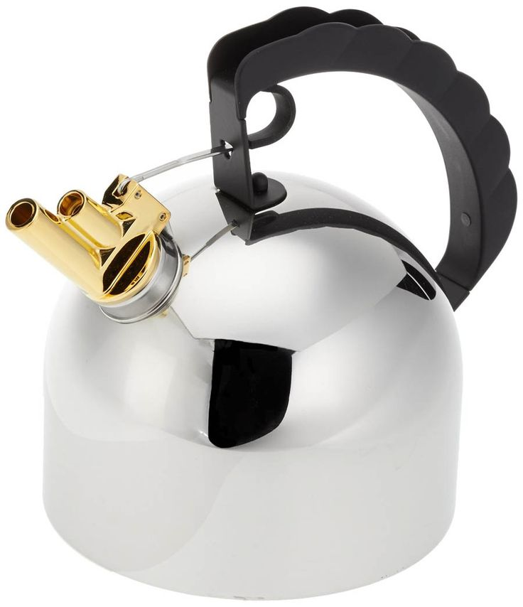 the Alessi 9091 kettle. The whistle is tined to the notes 'mi' and 'ti'. Richard Sapper