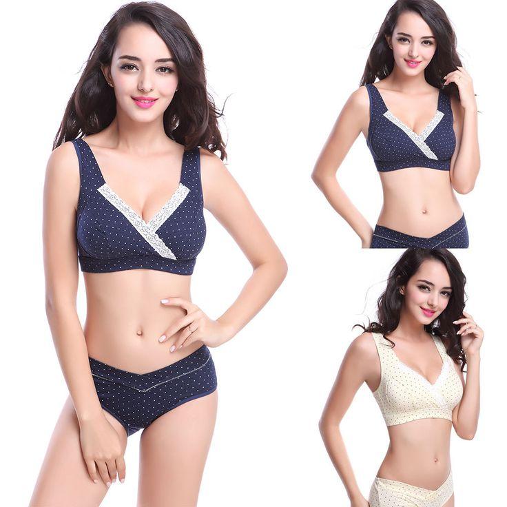 Women's Maternity Bra Feeding Nursing Vest Polka Underwear Lingerie 34-40 Bras Wholesale Free Shipping