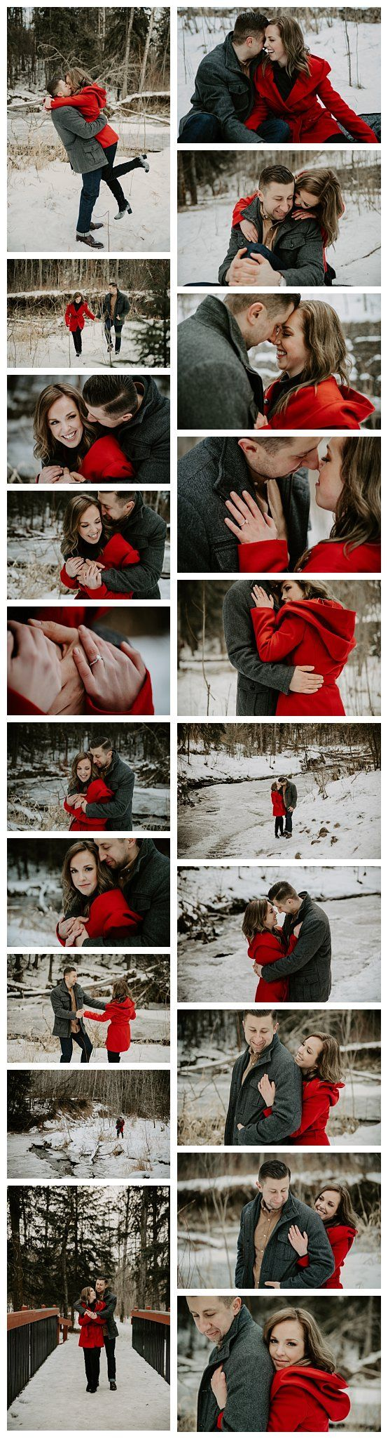 Winter engagement photos. Edmonton engagement photography. Mill creek ravine engagement photos.