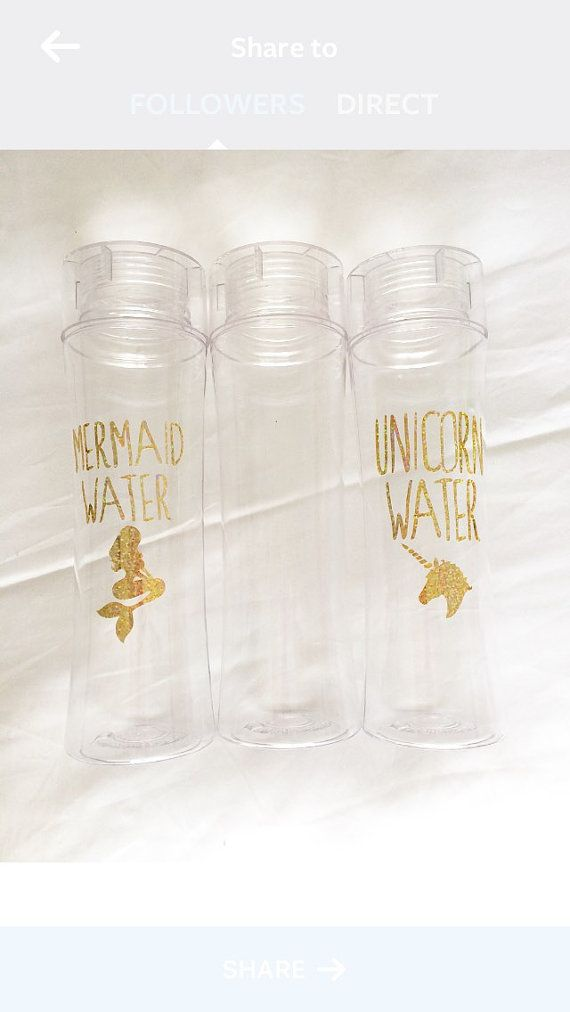 Unicorn Water, Mermaid Water, or custom 32 oz BPA free water bottle