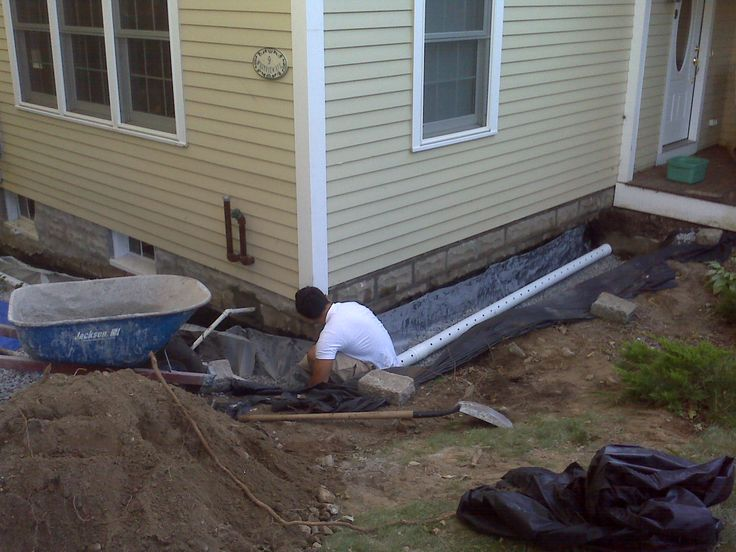 Corrugated Drain Pipe Into Another Pipe