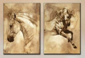 Only $45.90! Shop24seven365 for this stunning 2 piece set of modern European horse paintings on canvas. Perfect for horse lovers, or for those wanting a classy European touch! Purchase from www.shop24seven365.com.au