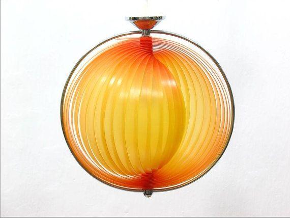 MOON Lampe 60er Jahre Orange von BuashkoGarage auf Etsy