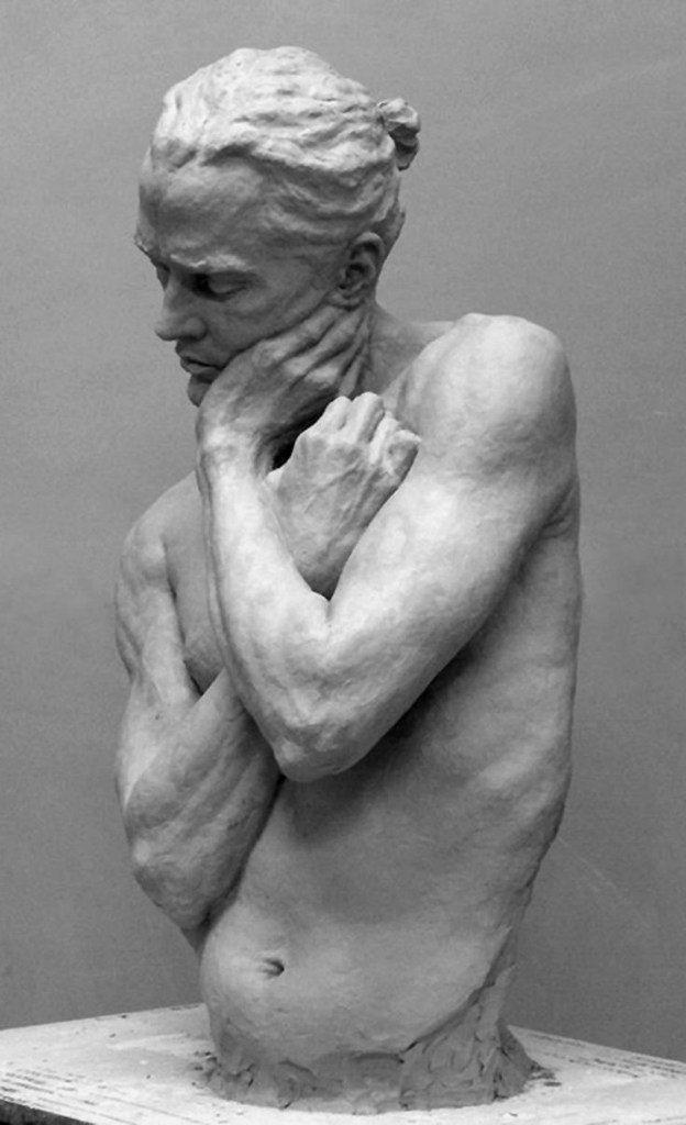 Male torso sculpture by Alicia Ponzio, 2009